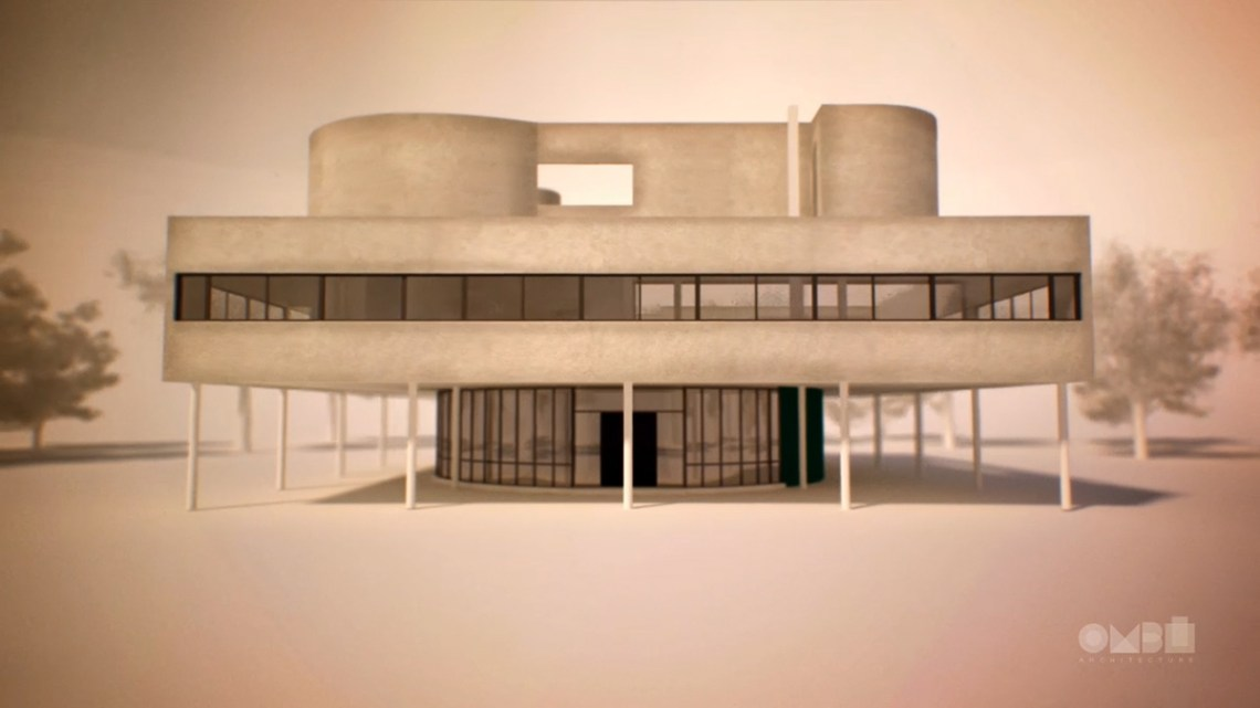 Villa Savoye The Five Points Of A New Architecture On Behance