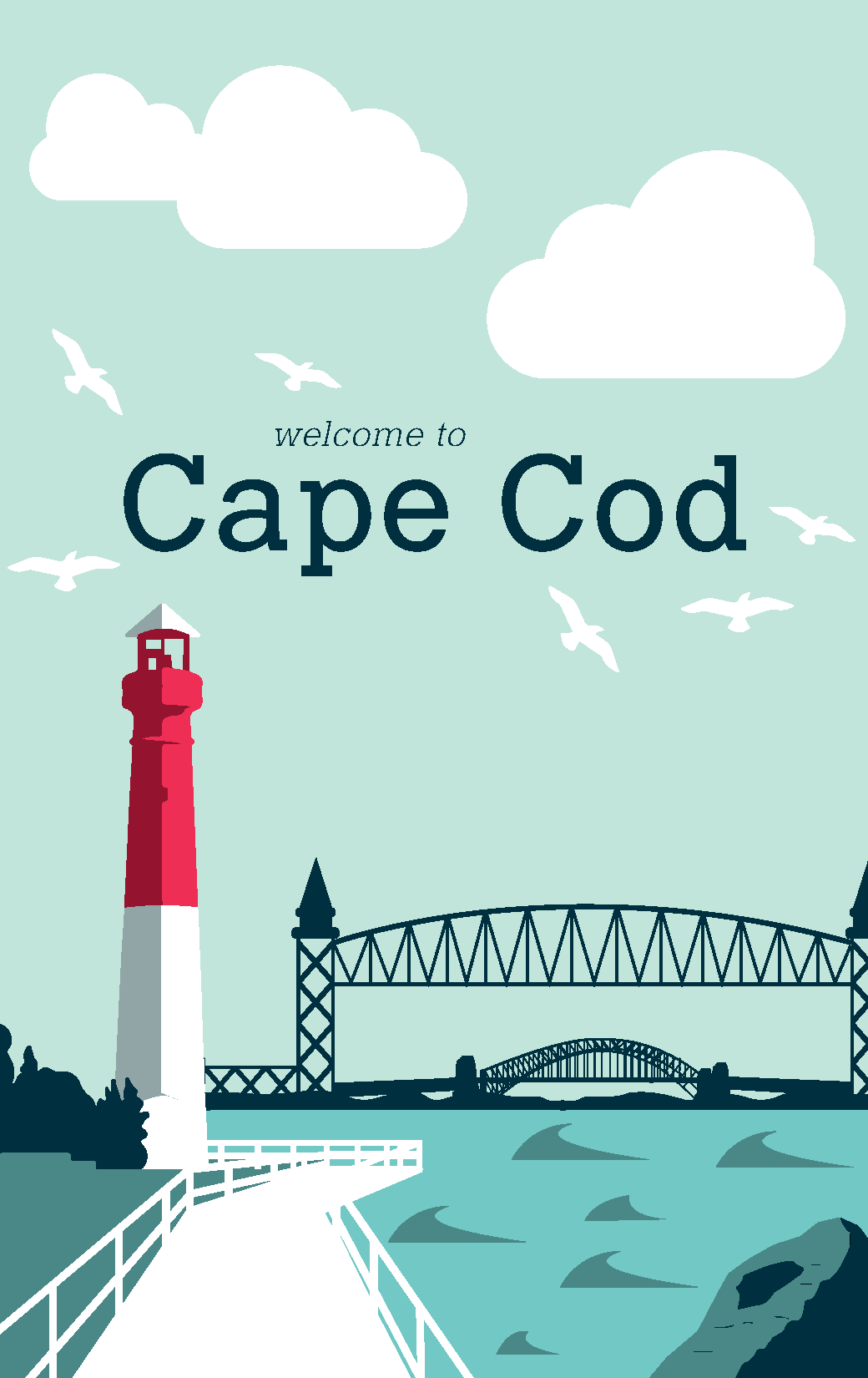welcome to cape cod on behance