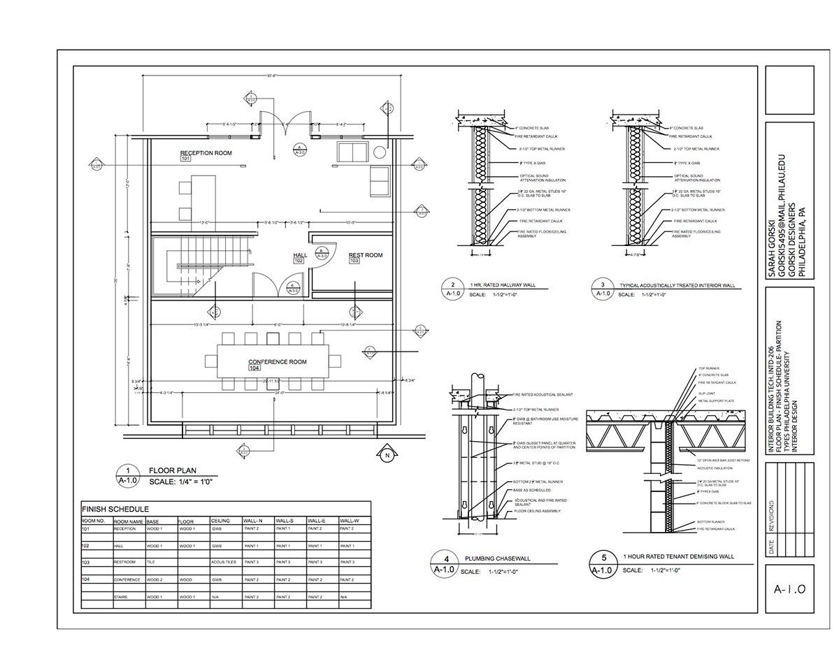 Interior Building Tech Construction Documents On Philau