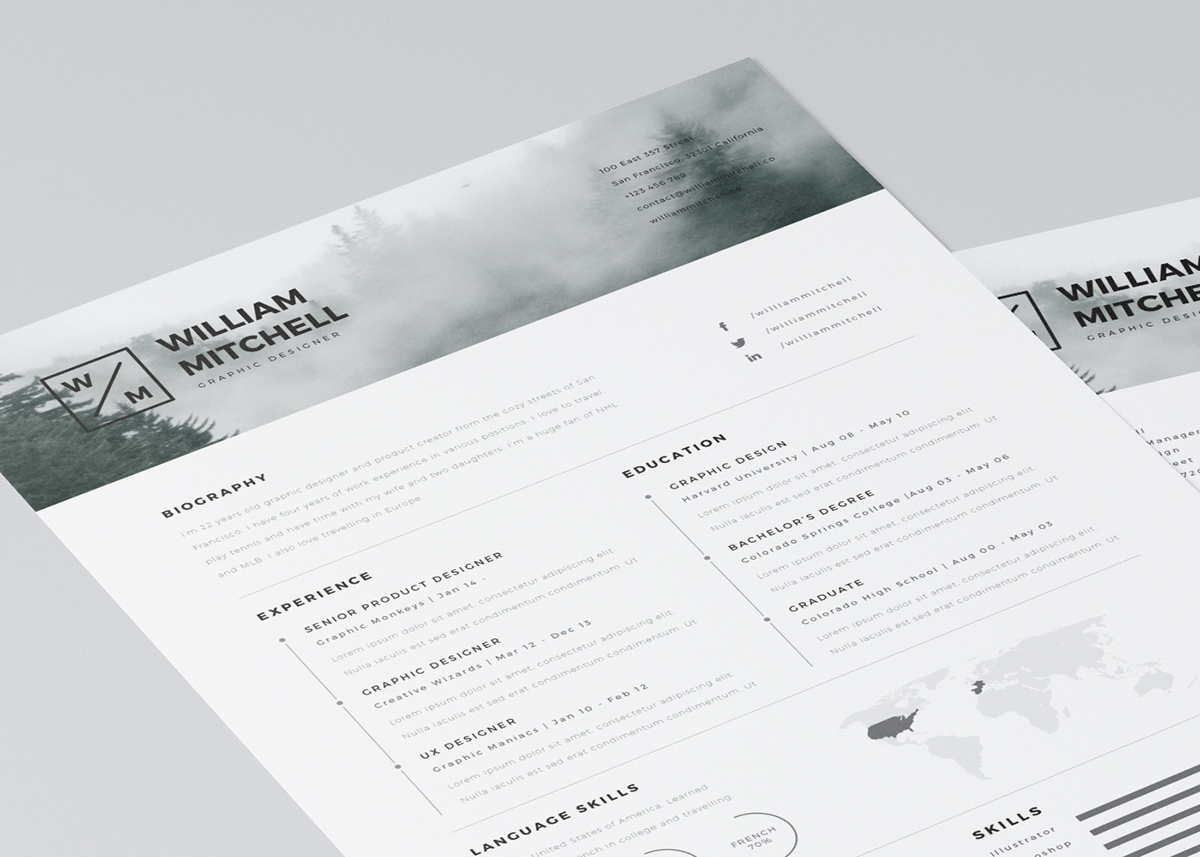 resume template psd format free resume template psd format free resume
