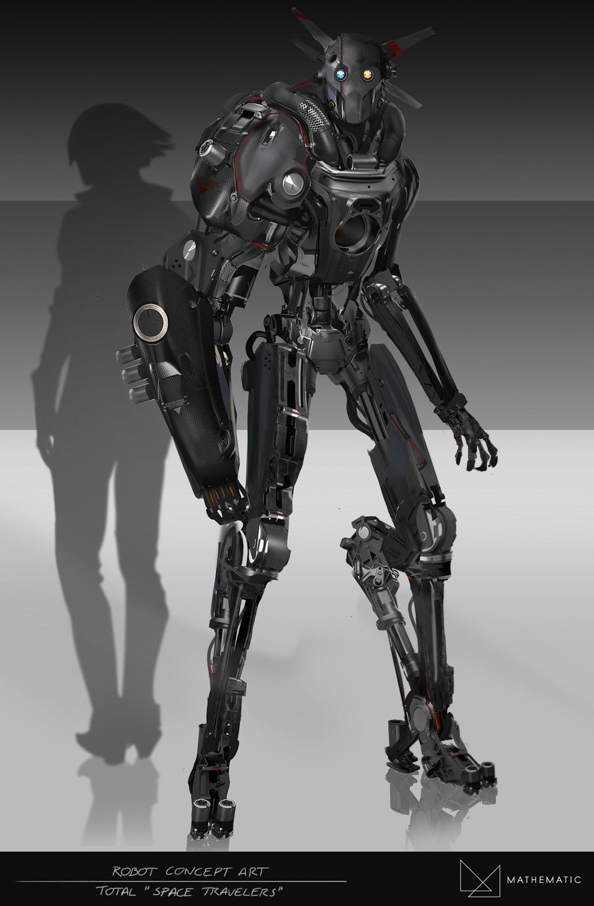 Robot Concept Art Total Advertising On Behance