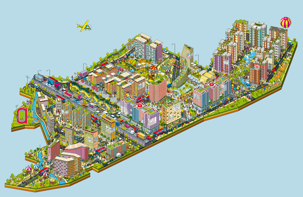 Bhartiya City City Of Joy Advertising Campaign Map On