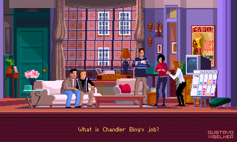 Pixel Art Series from your favorite TV Shows