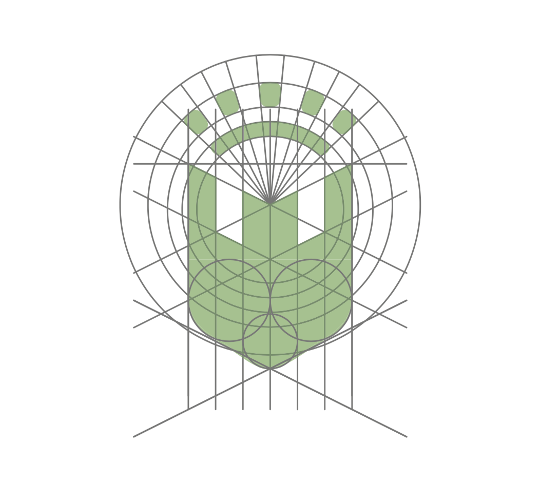esctructura diseño de escudo para el ayuntamiento de la vall d'uixo