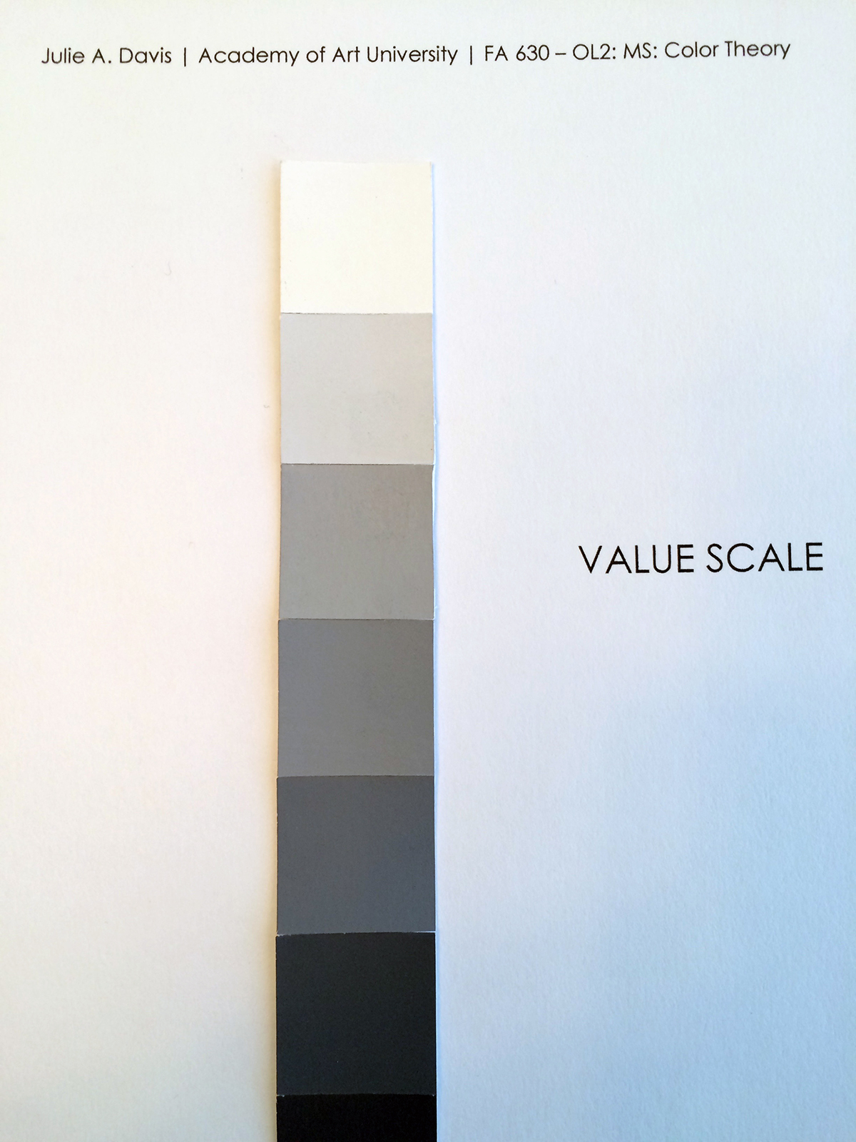 9 Step Value Scale On Behance