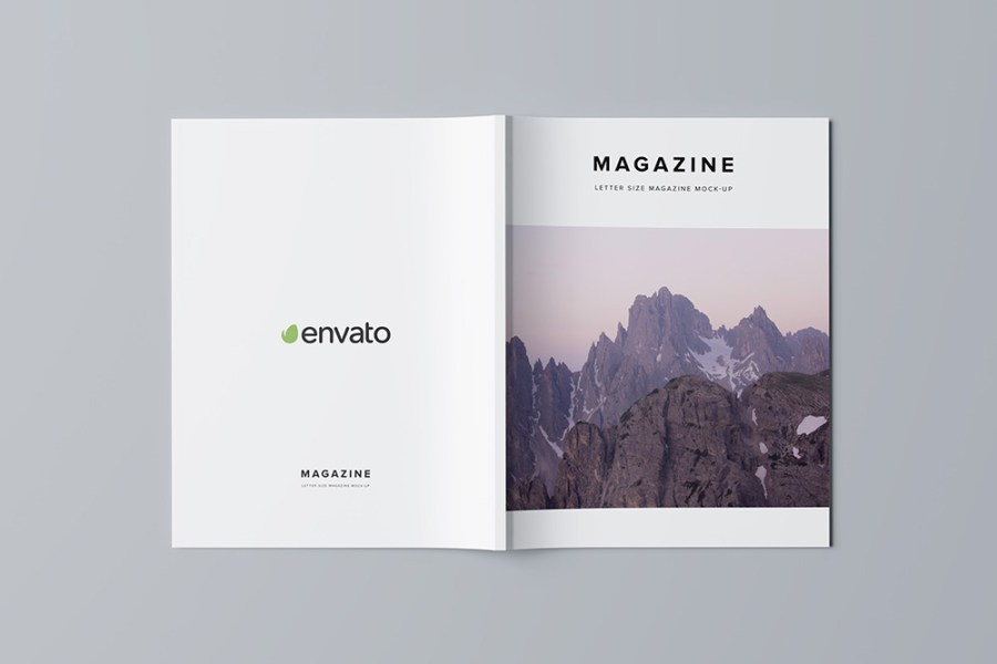 Letter Size Magazine Mock Up   3D Visualization on Behance You can download PSD here