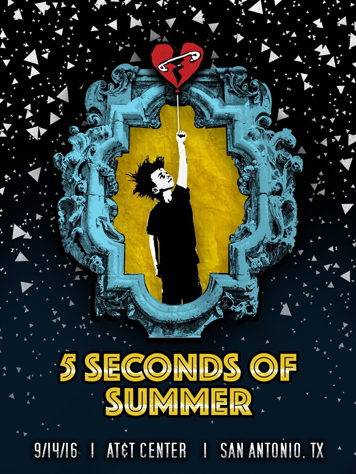 5 seconds of summer concert posters on