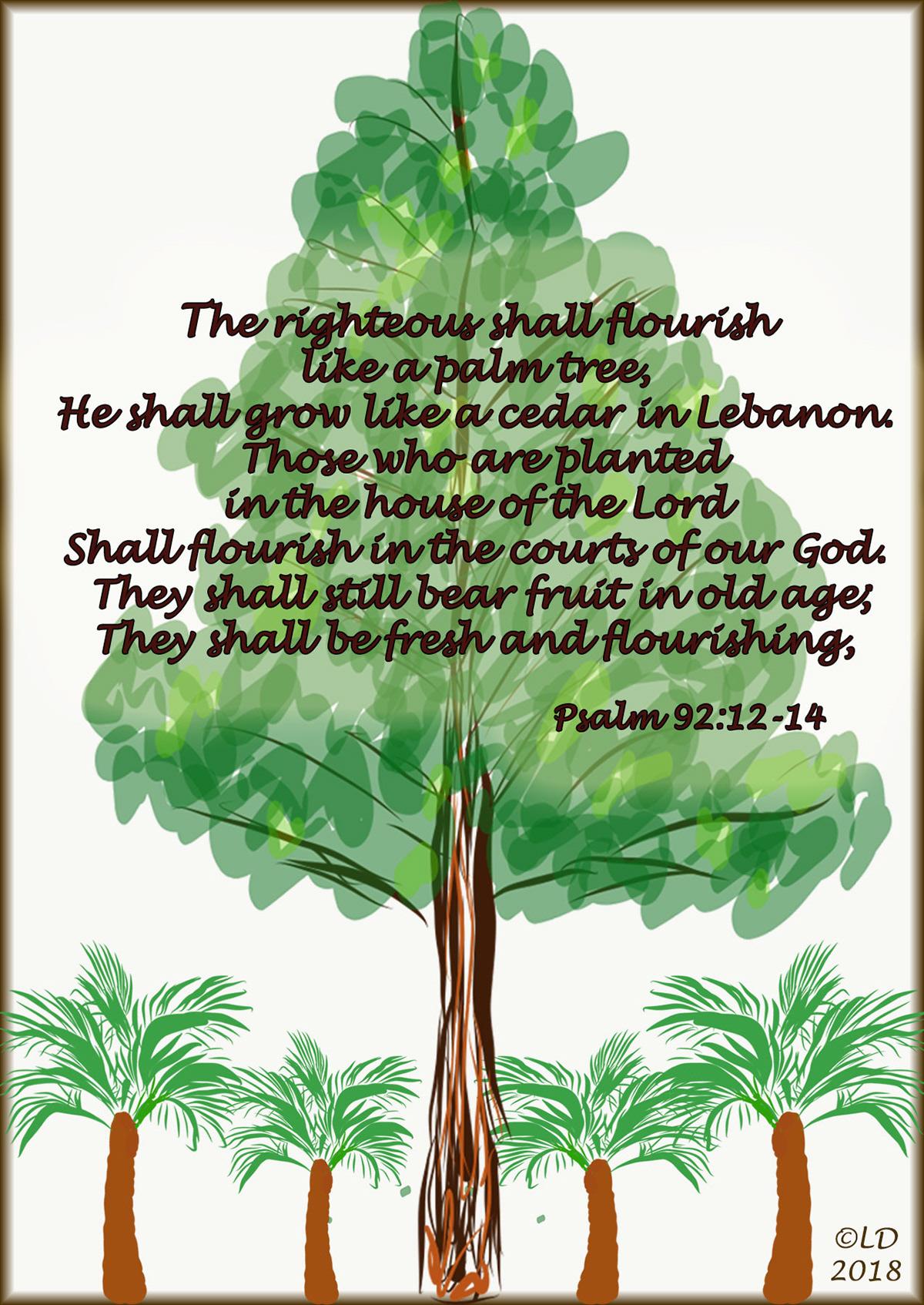 Fresh And Flourishing Psalm 92 12 14 On Behance