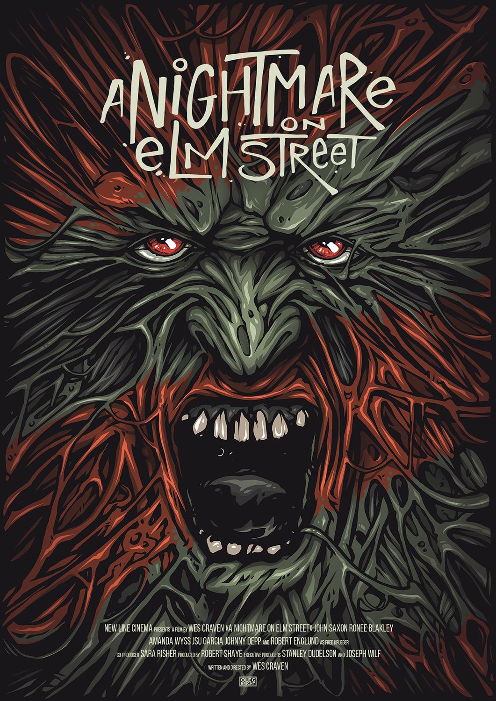 nightmare on elm street poster on behance