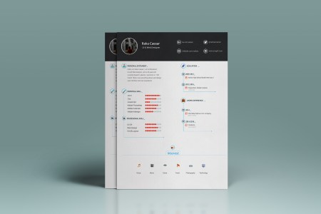 Resume   cv template   free download on Behance