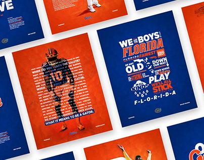 2017 florida gators football poster on