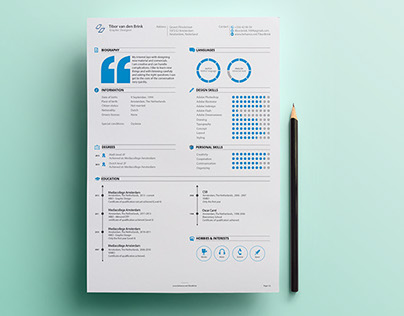 Personal Resume   Promotion on Behance