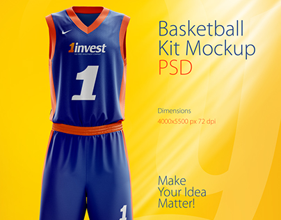 Download basketball jersey mock up