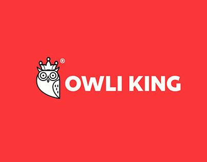 Owli King Modern logo design