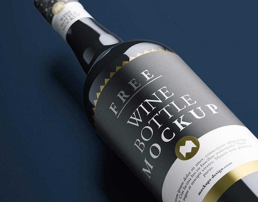 Download Wine Bottle Mockup Scene Yellowimages