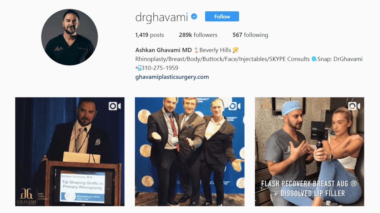 Dr. Arshkan Drghavami Instagram