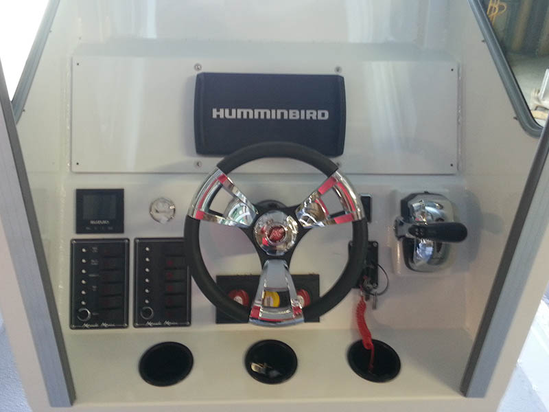 boat steering wheel and console