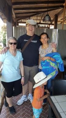 Family in El Salvador