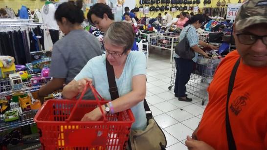 Betty shopping
