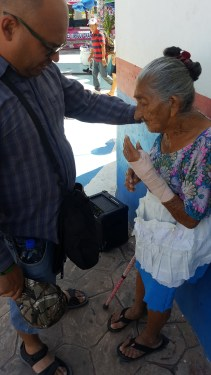 Healing the sick on the street in La Libertad El Salvador