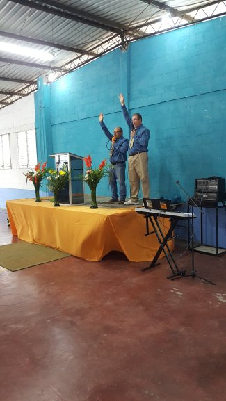 Preaching in El Salvador