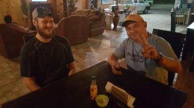 Gerrett and Francisco at the Hotel