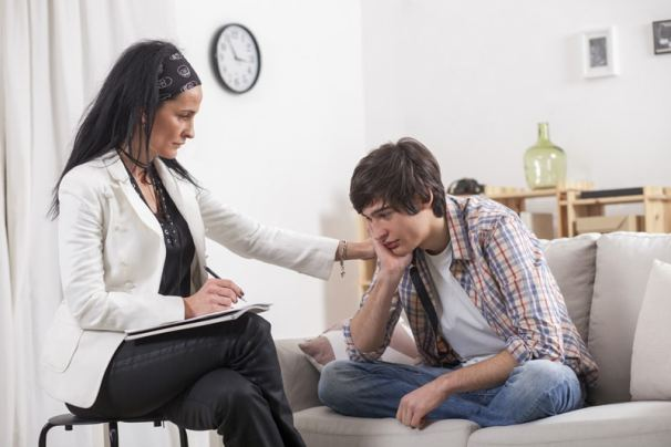 Young Person getting help for trauma