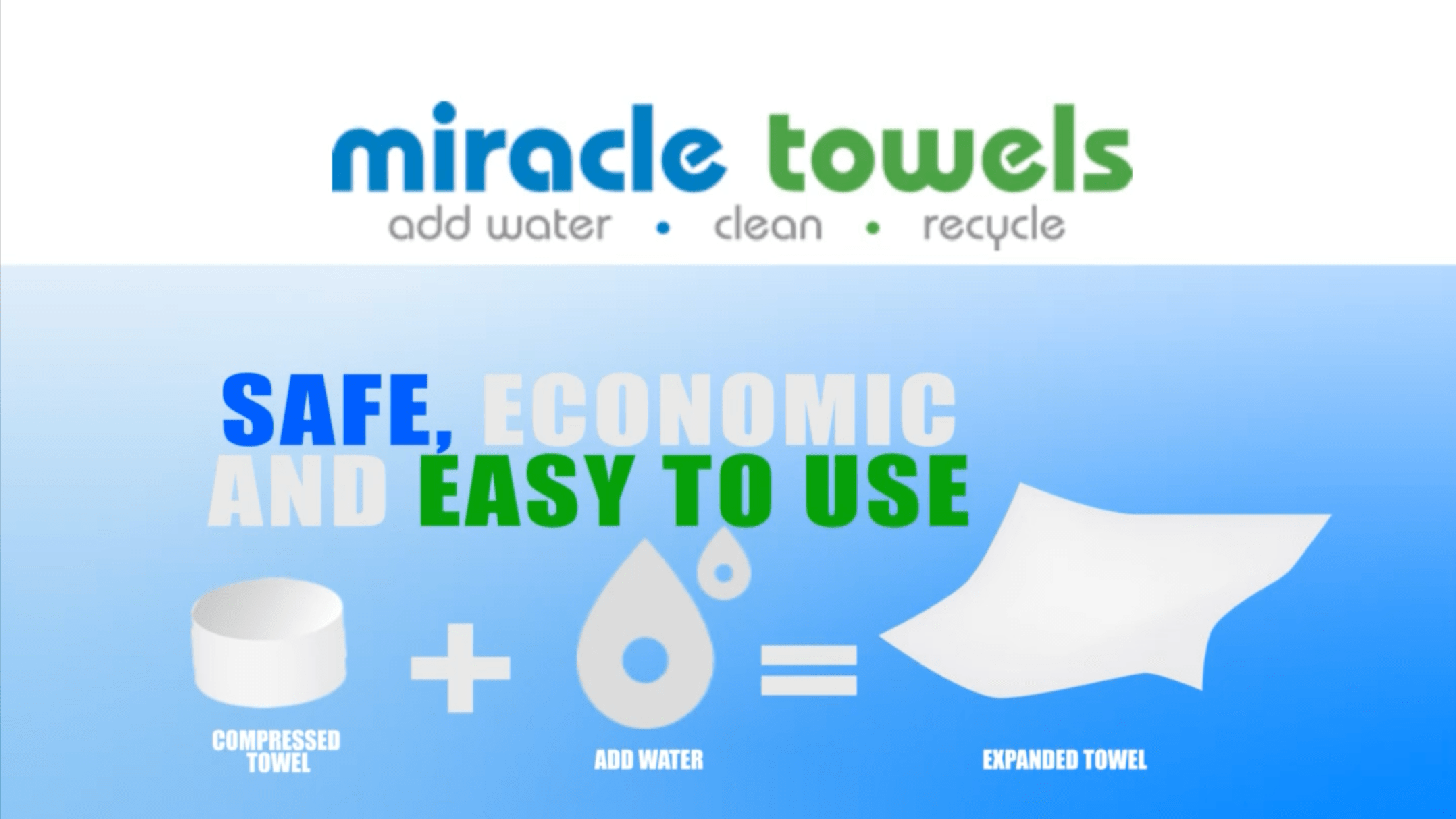 Miracle Towels 100 % Eco-Friendly