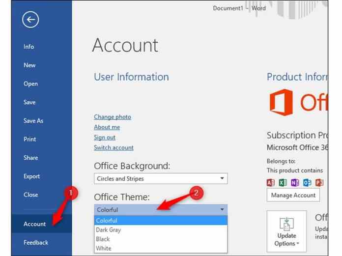 How to activate the dark mode of Microsoft Office in a simple way?