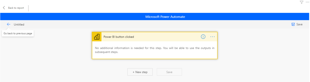microsoft power automate power bi report field table edit automate detail new template step