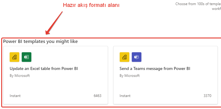 power bi power automate new template bi starter area new trigger template
