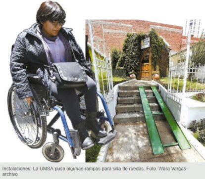 Unas 400 personas con discapacidad están en la 'U'