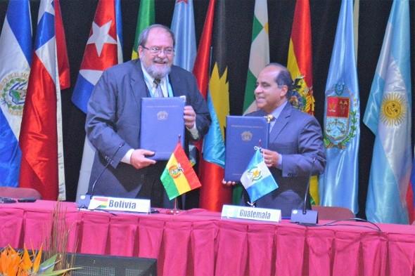 Bolivia y Guatemala firman convenio para asistencia técnica