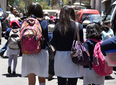 Horario de invierno se reduce desde el 7 de agosto en unidades educativas de La Paz