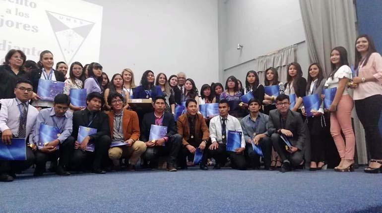 UMSS distingue a los 42 mejores estudiantes de 2018