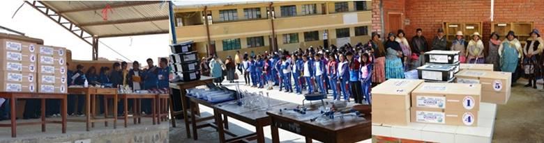 Inauguración y entrega de materiales para un Aula Múltiple a la Unidad Educativa República de Cuba