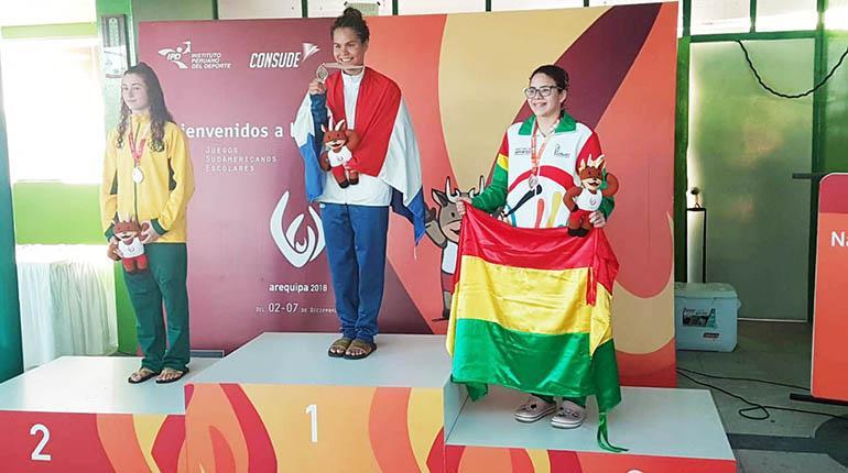 Giles hace historia para Bolivia en los Juegos Escolares Arequipa 2018