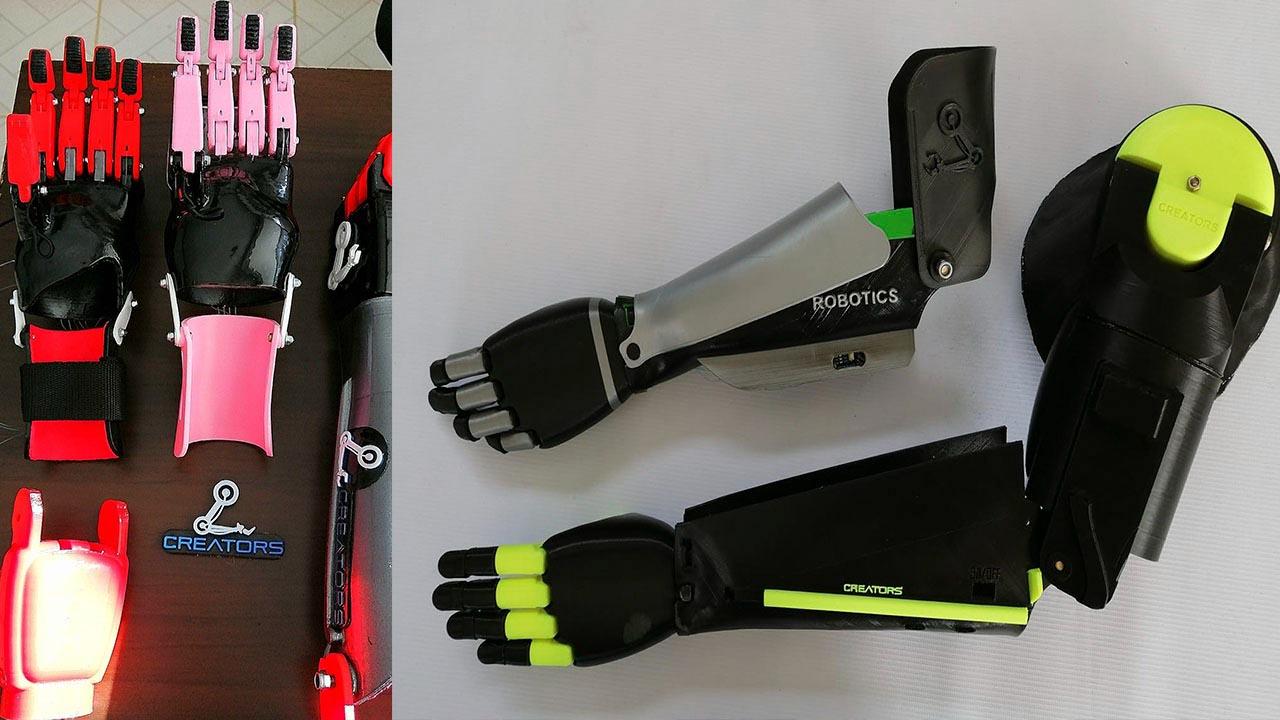 Jóvenes alteños crean prótesis biomecánicas con tecnología digital y 3D para los más necesitados