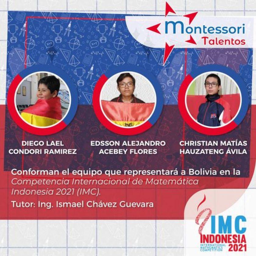 Alumnos del Montessori de Sucre competirán en olimpiada de Matemáticas en Indonesia