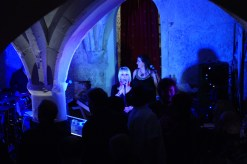 Julia K and Band performing in The Undercroft