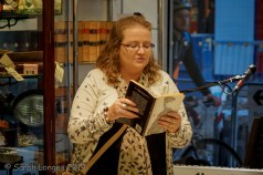 Me reading Wilfred Owen, Taken by Simon Williams