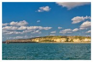 Newhaven cliffs and seawall