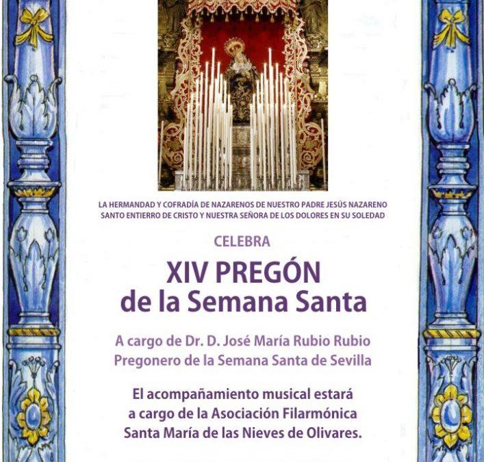 XIV PREGÓN DE LA SEMANA SANTA