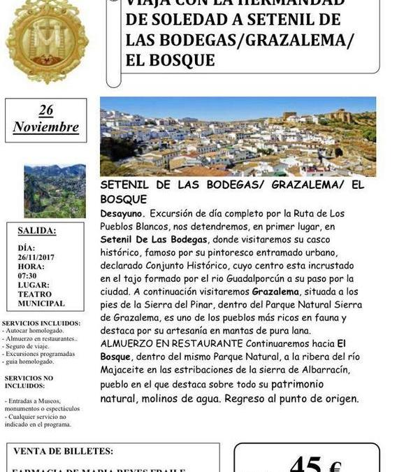 VIAJA CON LA HERMANDAD DE LA SOLEDAD DE OLIVARES