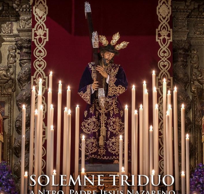 TRIDUO A NUESTRO PADRE JESÚS NAZARENO 2018