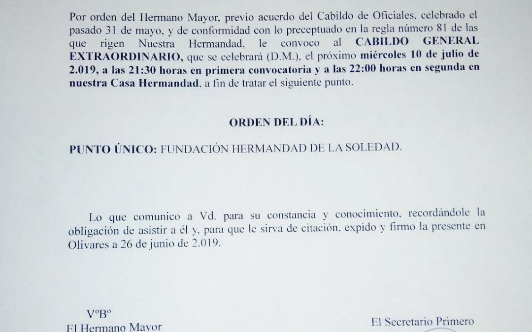 CITACIÓN CABILDO GENERAL EXTRAORDINARIO
