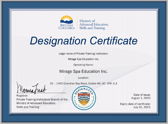Online Diploma Courses Mirage Spa Education Canada