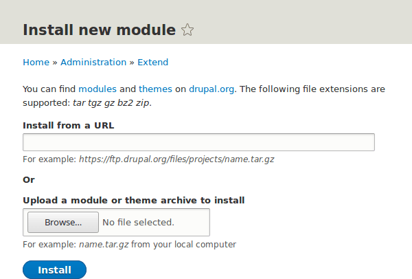 Miraget Install Drupal Module