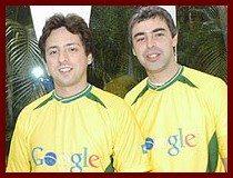 Sergey Brin e Larry Page, os fundadores da Google