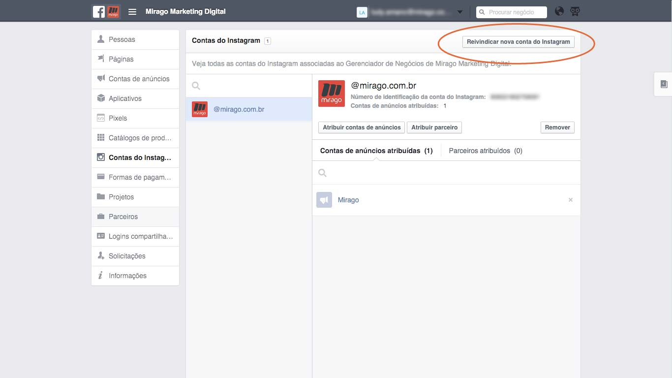 Configurando o Instagram no Business Manager